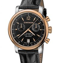 Wenger Mens Urban Vintage Chronograph - Two-Tone - Black Dial...