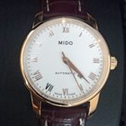 Mido Baroncelli steel automatic rose gold plated watch