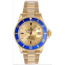 勞力士 (Rolex) Men's Rolex Submariner Watch 16618 Champagne...