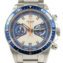 Tudor Heritage Chronograph Blue 70330B Box Papers 42mm