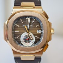 Patek Philippe Nautilus 5980R Rose Gold Leather Strap Famous...