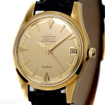 Zenith Vintage Captain Date Automatic Ref-133 18k Yellow Gold...