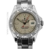 Rolex stainless steel and platinum ladies Yachtmaster