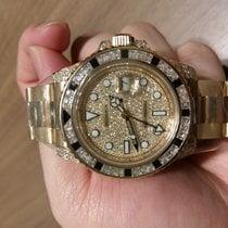 Rolex GMT-Master II, Pave Diamond Dial, Diamond & Sapphire...
