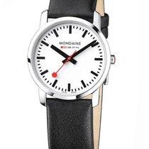 Mondaine Ladies Simply Elegant Watch - Black Leather Strap -...