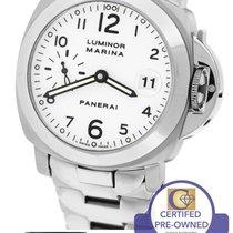 Panerai Luminor Marina PAM 51 White 40mm Stainless Watch PAM00051