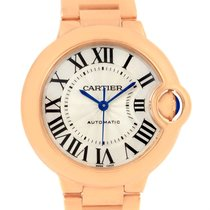 Cartier Ballon Bleu Midzize 18k Rose Gold Silver Dial Watch...