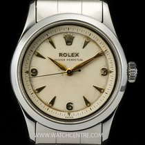 Rolex Stainless Steel Silver Arabic Oyster Perpetual Gents 6332