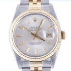 Rolex Mens 2tone Datejust - Silver Stick Marker Dial 16223