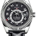 Rolex SKY-DWELLER WHITE GOLD LEATHER
