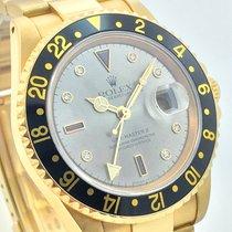 Rolex GMT Matser Certi Sultan Dial 18K 750 Gold B+P