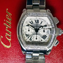 Cartier Roadster Chronograph Steel & Diamond Chronograph...