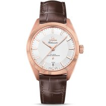 Omega Constellation 18k Rose Gold Silver Dial GLOBEMASTER...