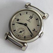 Omega Vintage Scarab Art-Deco Steel Wristwatch / appr. 1937