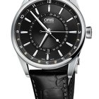 Oris Artix Pointer Moon, Date, Black Dial, Leather Bracelet