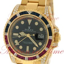 Rolex GMT-Master II, Black Dial, Sapphire & Ruby Baguette...