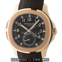 Patek Philippe Aquanaut Travel Time 18k Rose Gold Brown Dial...