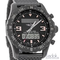 Breitling Chronospace Military Volcano Black Steel Watch...