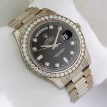 Rolex 218349 Day-Date II President 18K WG 41mm Black Diamond Dial