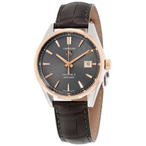 TAG Heuer Carrera Automatic Brown Leather Mens Watch WAR215EFC...