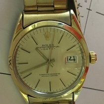 Rolex Gold Shell Vintage Perpetual Date 1550 Champagne Dial...