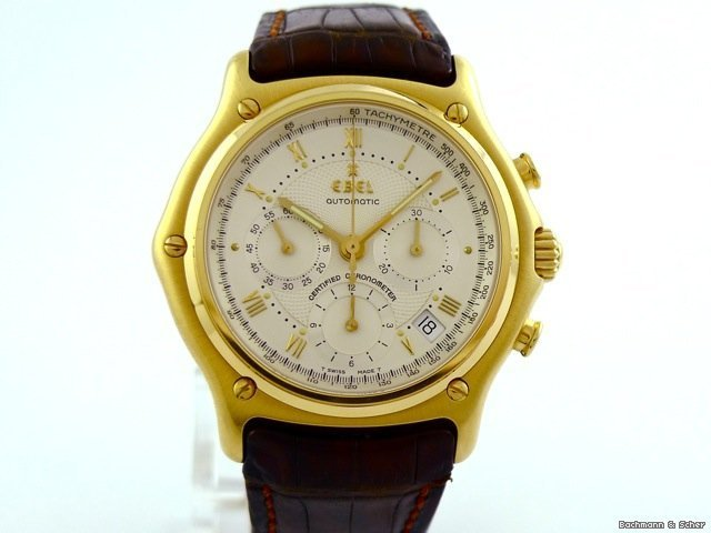 Ebel , 1911 Chronometer Chronograph Automatic, 18k Yellow Gold