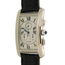 Cartier Tank Americaine Chronograph White Gold Quartz 27 X 44 Mm