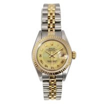 Rolex Lady Datejust Steel and Gold Watch, Factory Champagne...
