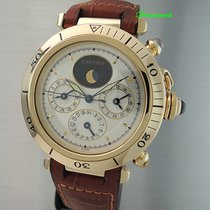 Cartier Pasha 3 Time- Zones Automatik -Gold 18k -Full Service...