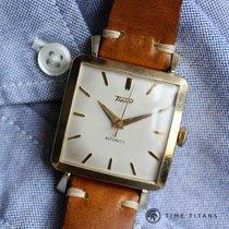 Tissot 14K YELLOW GOLD JUMBO SQUARE AUTOMATIC 31MM 1950's...