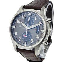 IWC IW387802 Spitfire Chronograph in Steel - On Brown Leather...