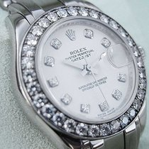 Rolex Datejust Pearlmaster 80299 Ladies White Gold 29mm White...