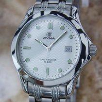 Cyma Swiss Made Mens 1990s Quartz Luxury Stainless Steel 30mm...