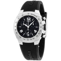 Alpina Avalanche Black Dial Silicone Strap Ladies Watch...