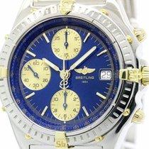 Breitling Chronomat 18k Gold Steel Automatic Watch B13050.1...