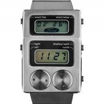 Heuer Ford Split Lap Unit 77 Stahl Quarz Chronograph Armband...