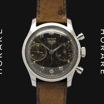 Heuer Chronograph, Black Dial, Baylor Signed, Valjoux 23 - 1960s