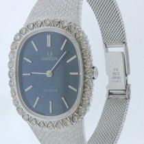 Omega 18k White Gold Lady's De Ville Ellipse Bracelet Watch