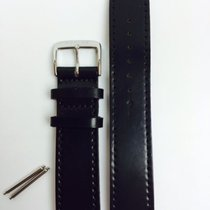 Nomos Shell Cardovan Lederband schwarz 20mm