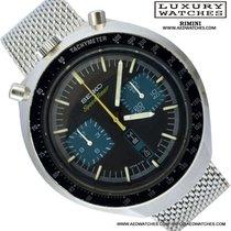 Seiko Bullhead 6138 - 0040 Speed Timer cronografo blue dial 1976