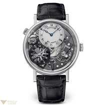Breguet Tradition Silver Skeleton Dial Men's Watch