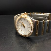 Omega Constellation Lady Stahl/Gold MOP Diamanten Box