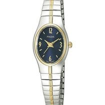 Pulsar Ladies Watch - Stainless & Gold-Tone - Blue Face -...