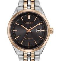 Citizen Eco-Drive Mens Contemporary Dress Watch - Black Dial -...