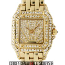 Cartier Panthere Collection Factory Diamonds Sunburst Dial...