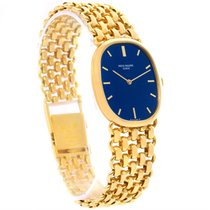 Patek Philippe Golden Ellipse 18k Yellow Gold Blue Dial Watch...