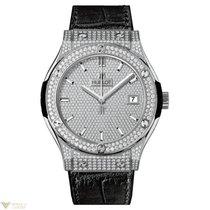 Hublot Classic Fusion Pave Dial Titanium Men's Watch
