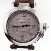Cartier Pasha Ladies 18k White Gold W/ Diamond Dial Ref 2308...