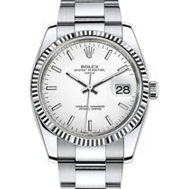 Rolex Oyster Perpetual Date 34 115234-WHTSFO White Index...