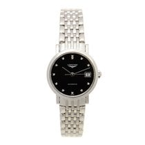 Longines Elegant Stainless Steel Black Automatic L4.309.4.57.6